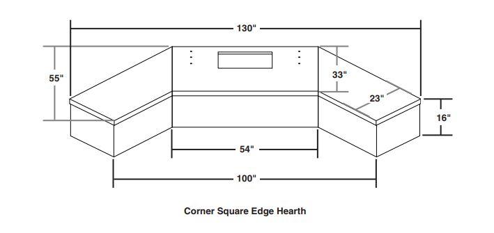 Corner Square Edge Hearth