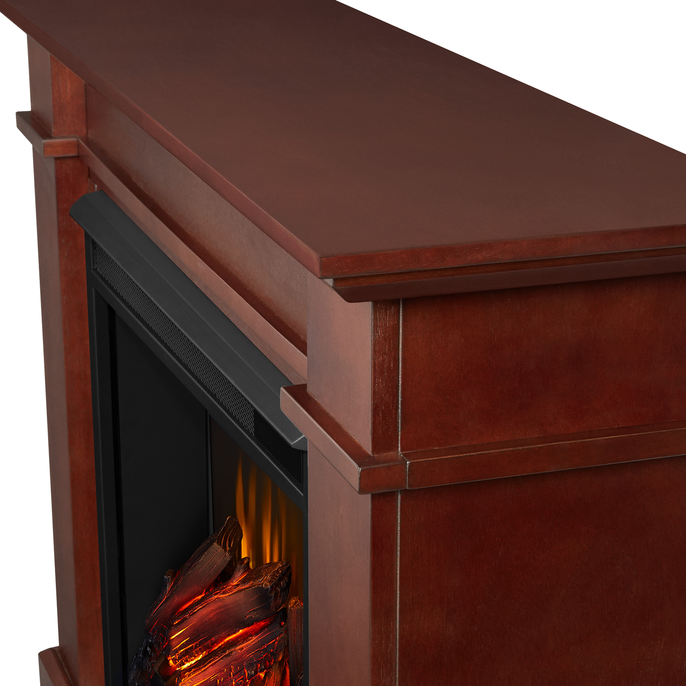Dark Espresso Electric Fireplace Frame Details