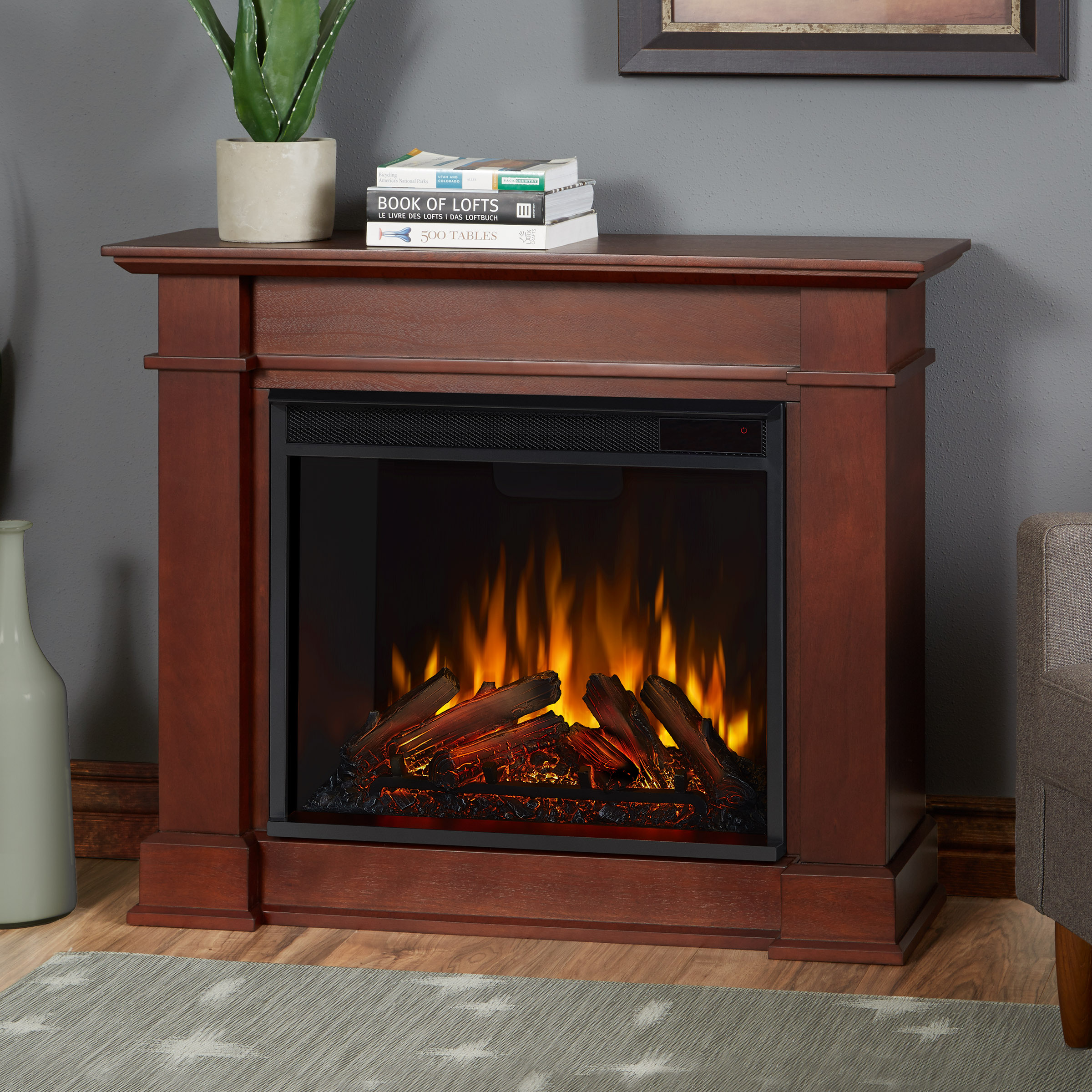Dark Espresso Electric Fireplace