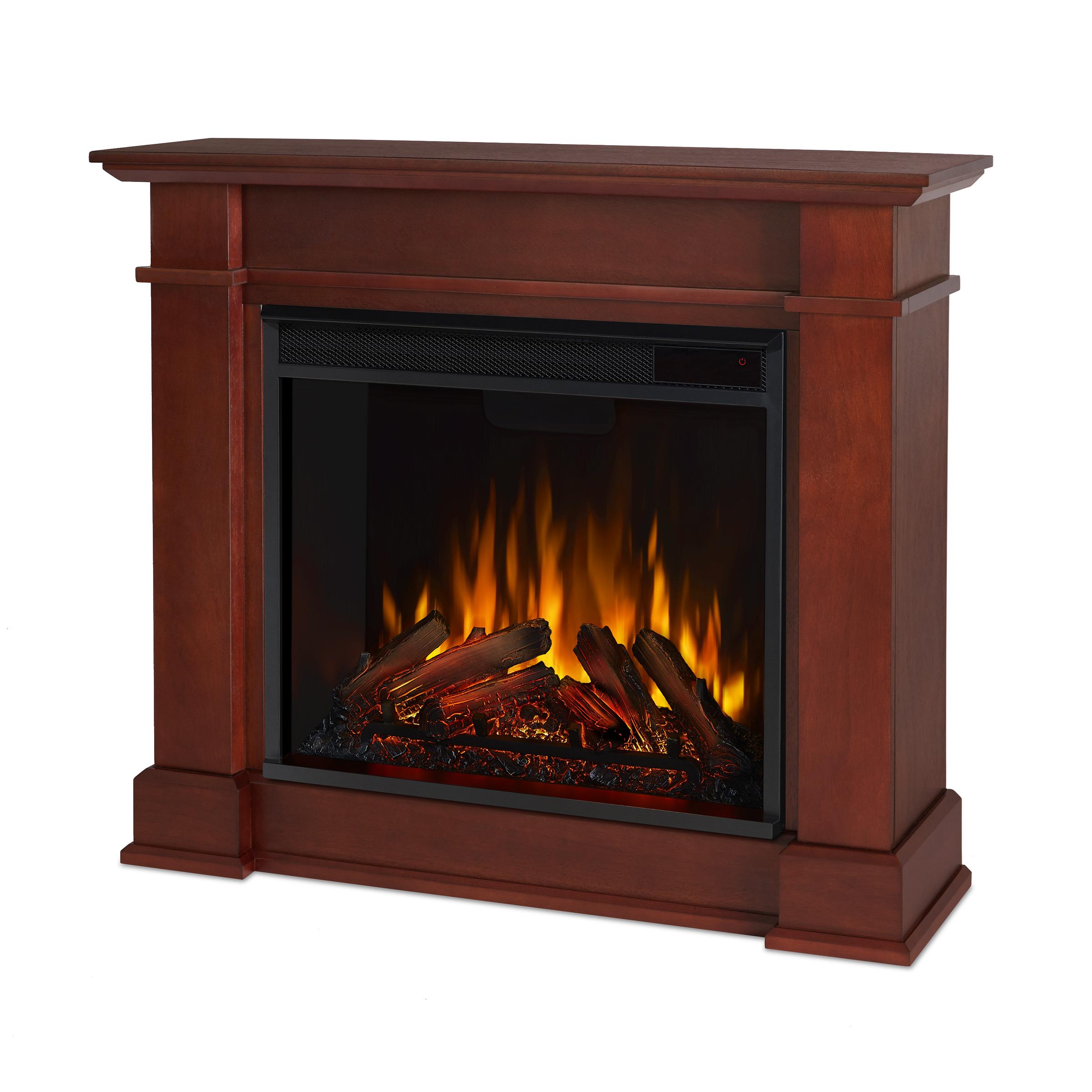Dark Espresso Electric Fireplace Angle