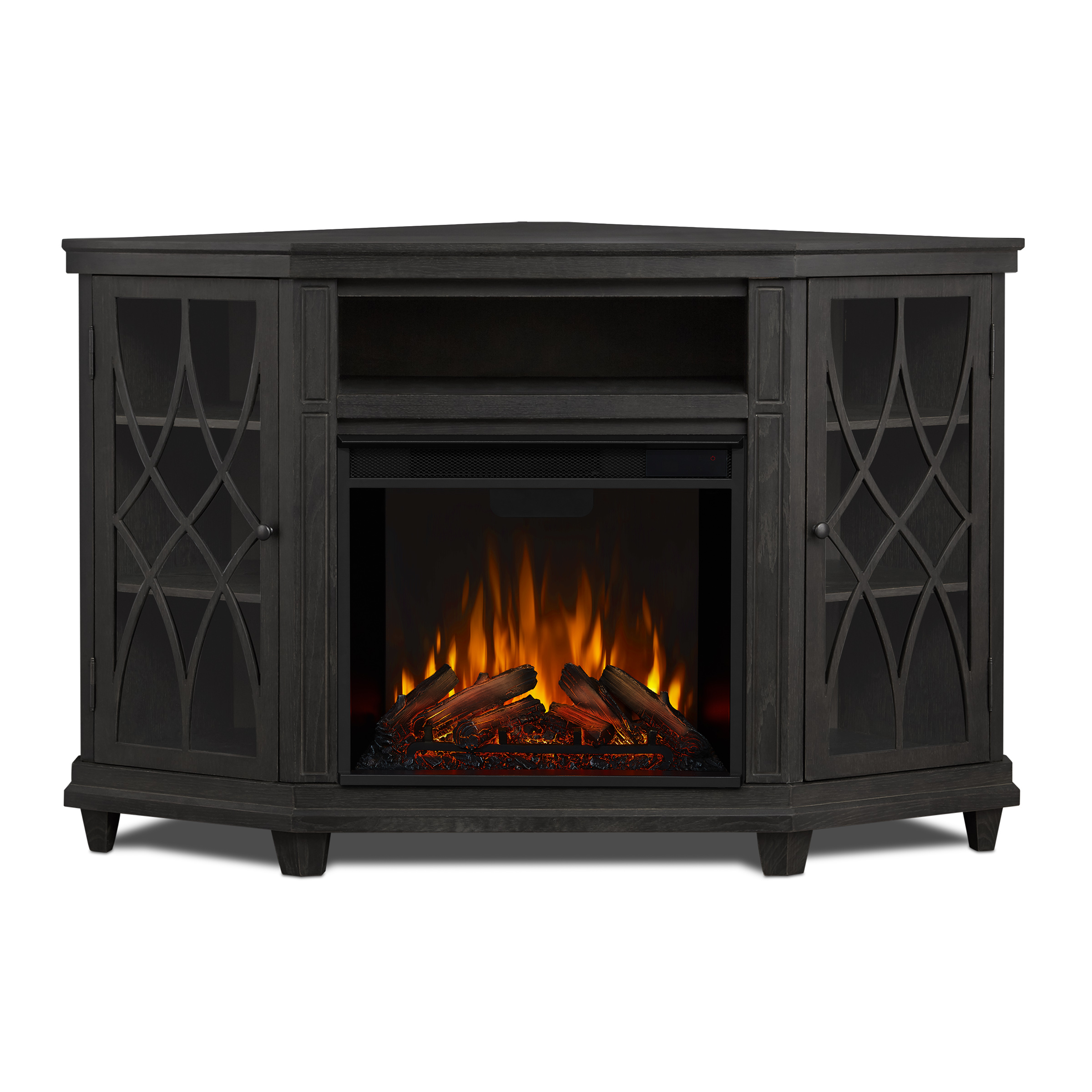 Gray Electric Fireplace Front
