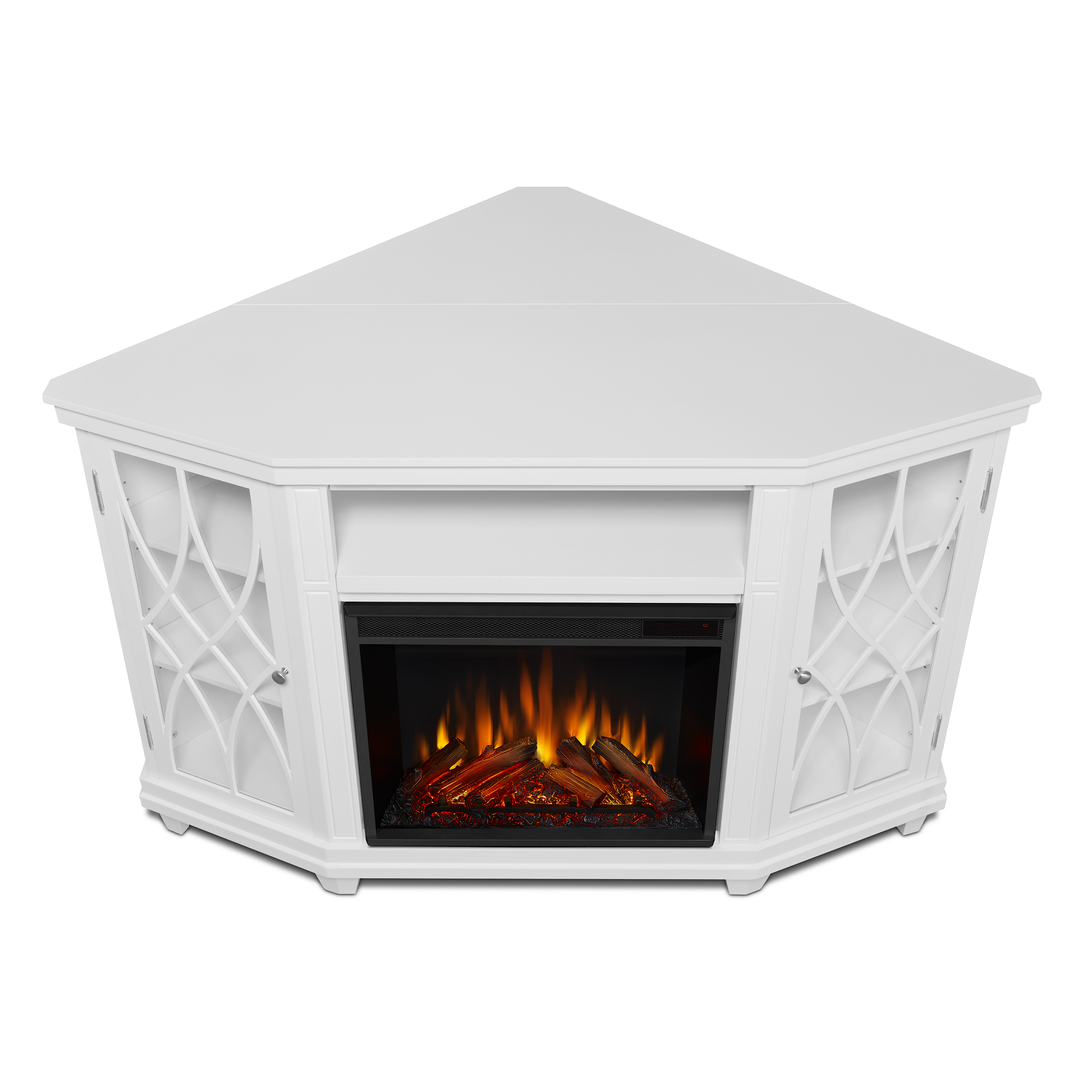 White Electric Fireplace Top