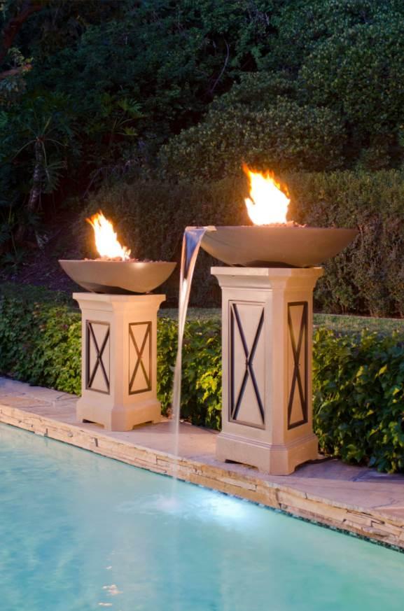 Fire Bowl w/ Water Spouts