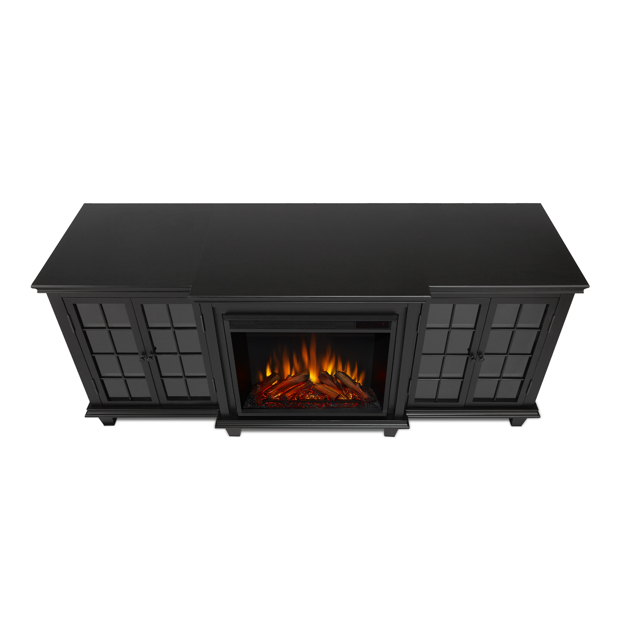 Black Electric Fireplace Top
