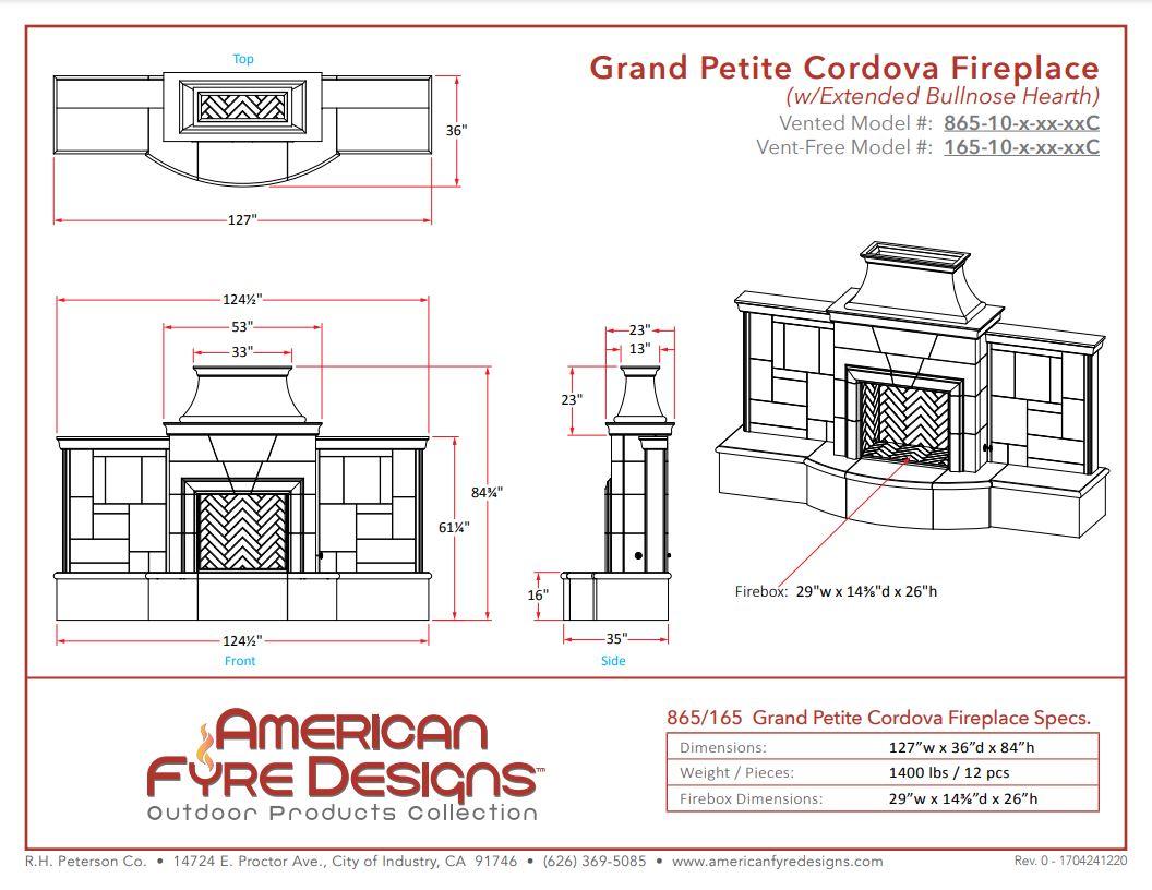 Grand Petite Cordova Dimensions