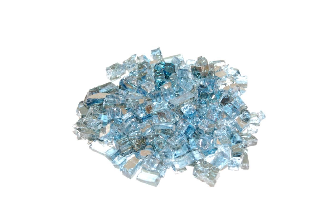 Caribbean Blue Reflective Fyre Glass