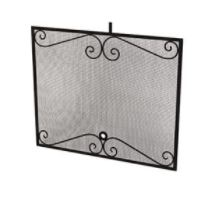 Arched Black Scroll Screen