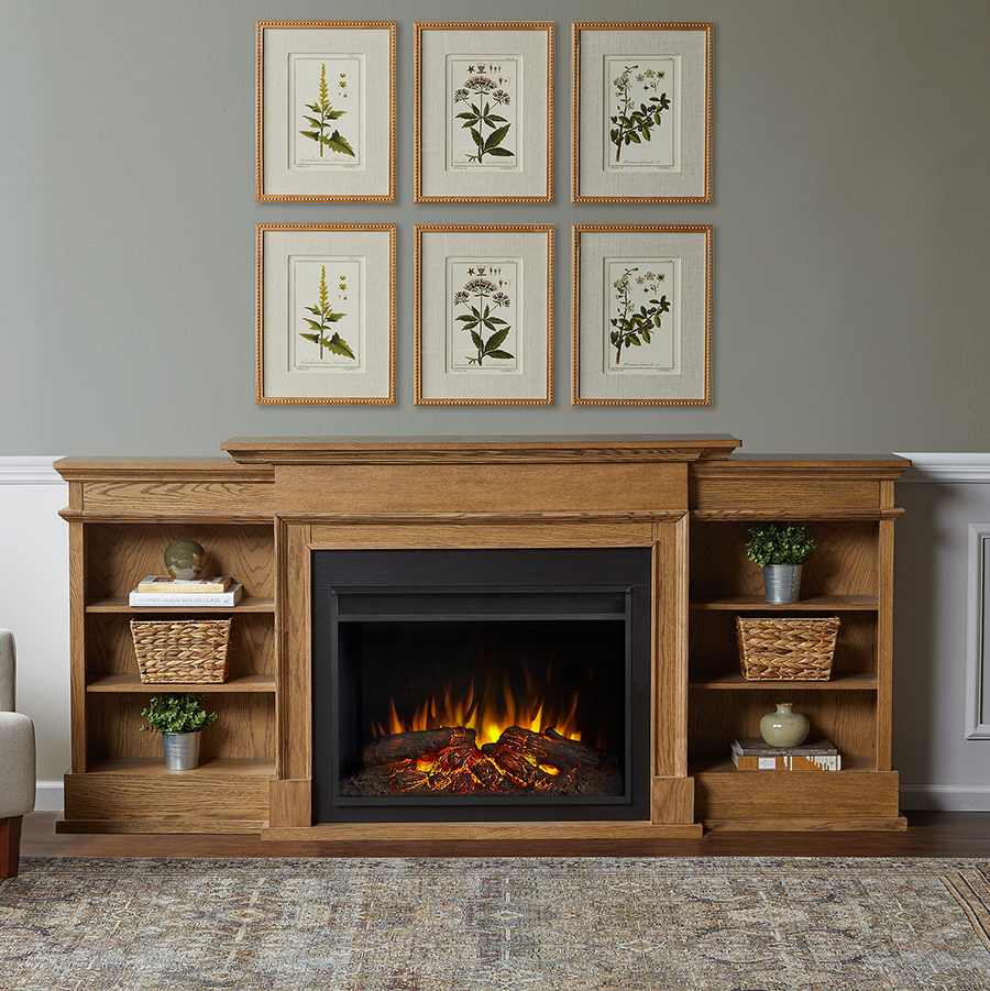 Electric Fireplace Living Room Space