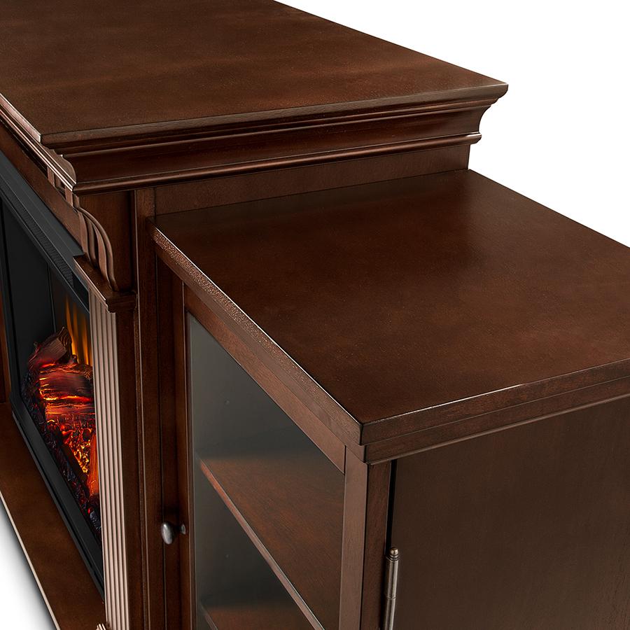 Espresso Electric Fireplace Frame Details