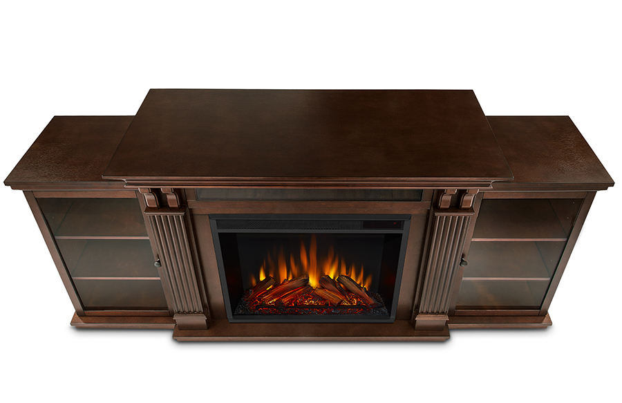 Espresso Electric Fireplace Top