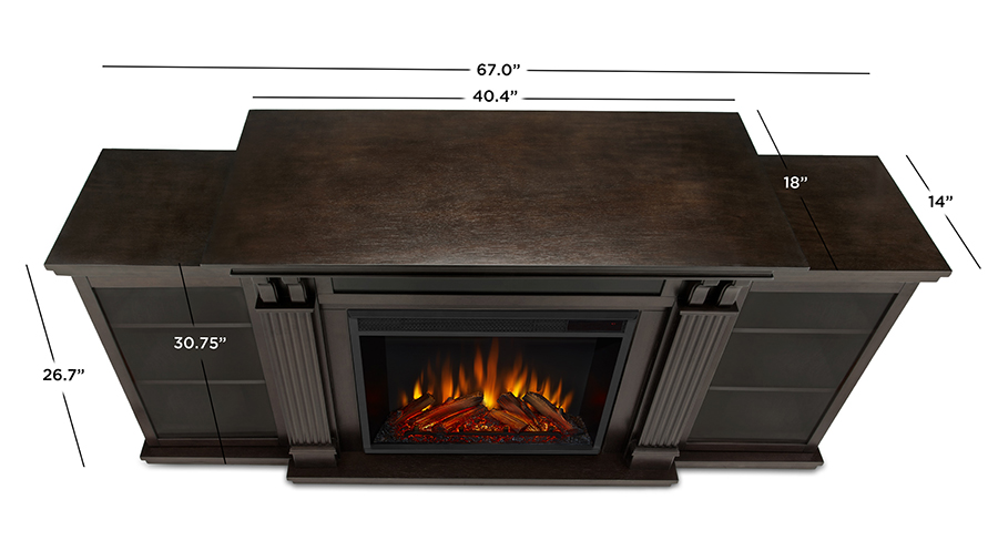 Dark Walnut Electric Fireplace Dimensions