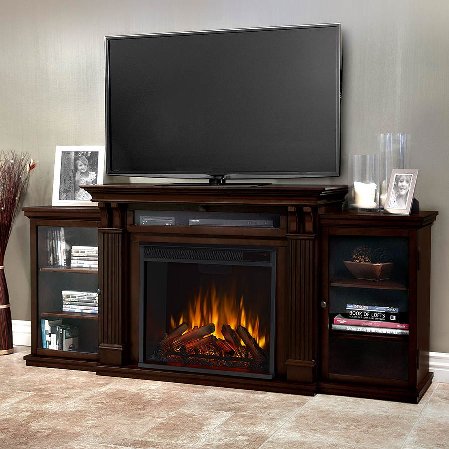 Dark Walnut Electric Fireplace