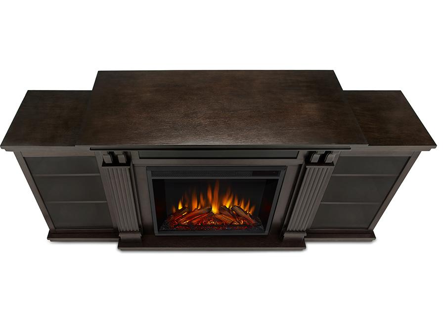 Dark Walnut Electric Fireplace Top