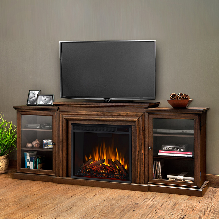 Chestnut Oak Electric Fireplace