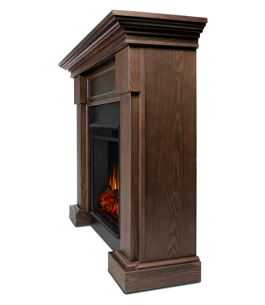 Electric Fireplace Side Angle