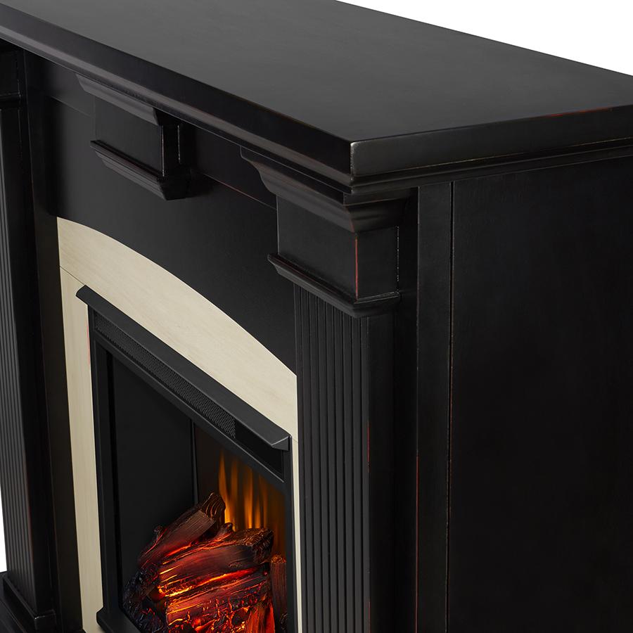 Blackwash Electric Fireplace Frame Details