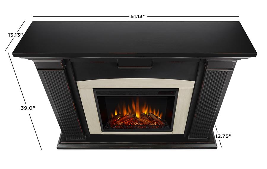 Blackwash Electric Fireplace Dimensions