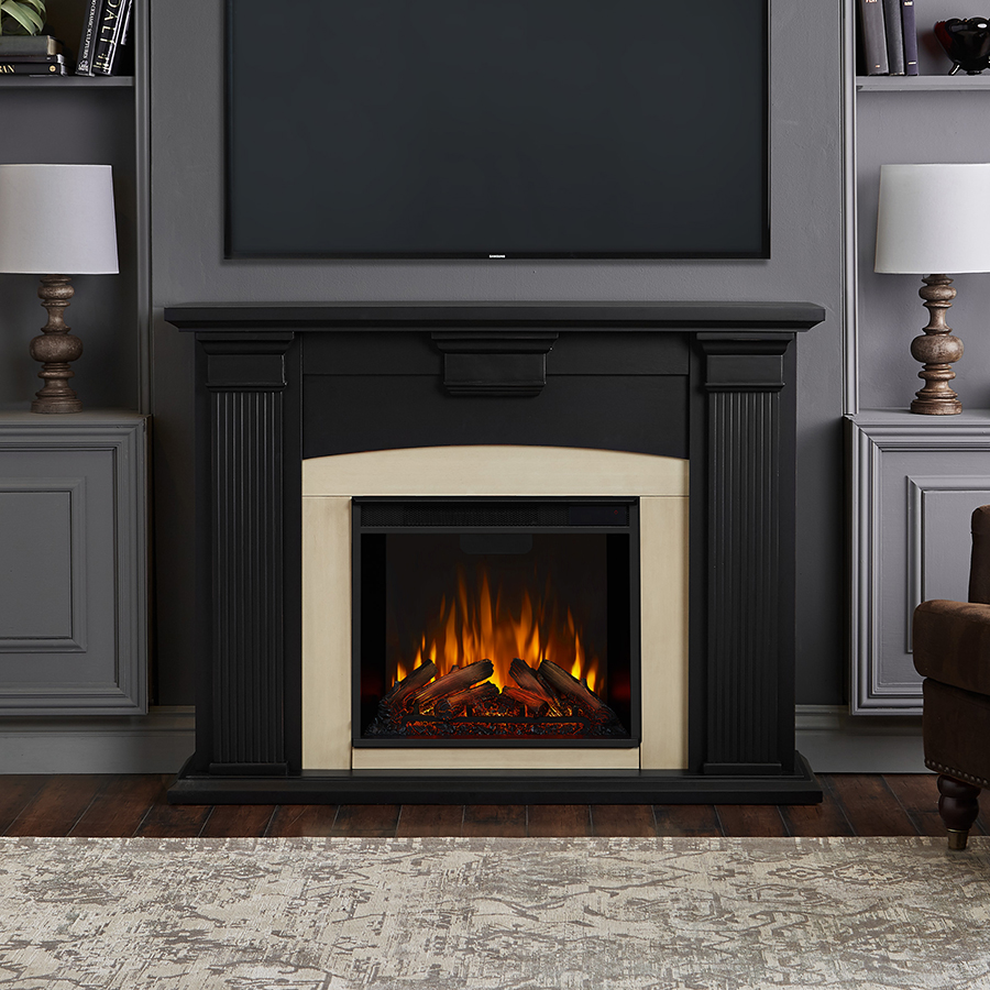 Blackwash Electric Fireplace