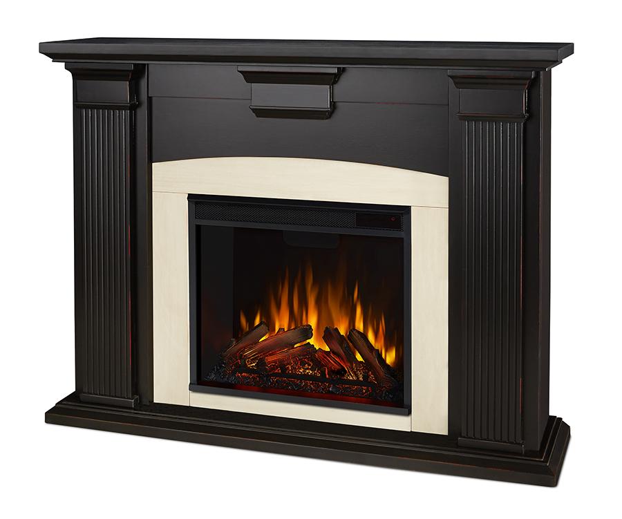 Blackwash Electric Fireplace Angle