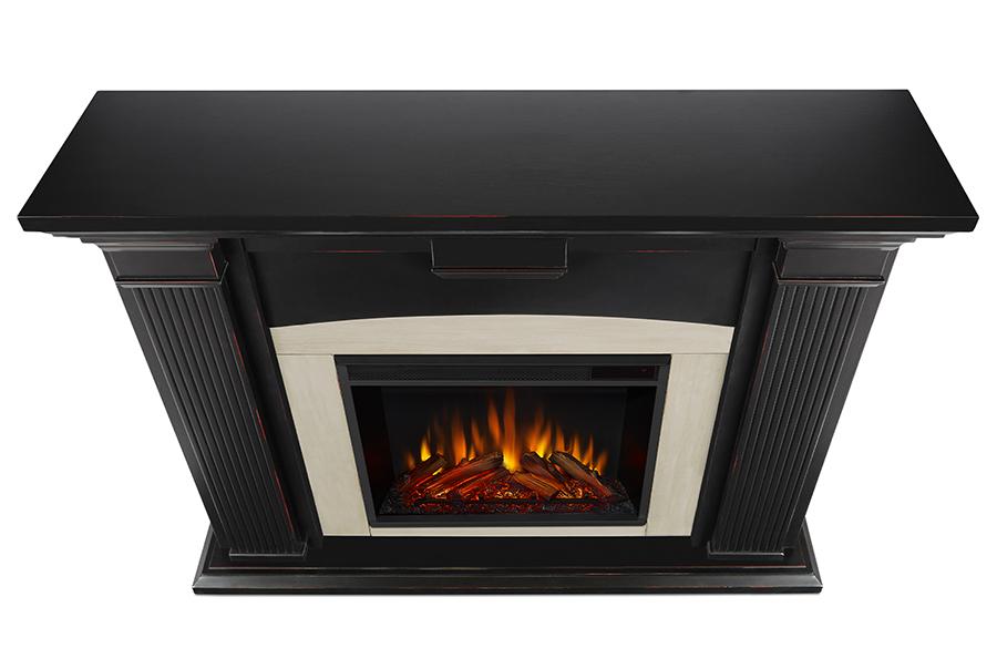 Blackwash Electric Fireplace Top