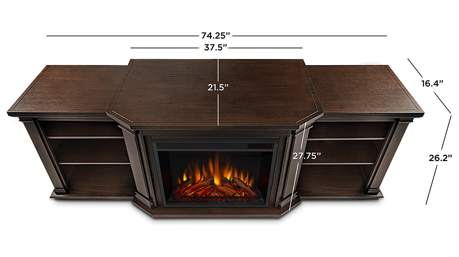 Chestnut Oak Electric Fireplace Dimensions