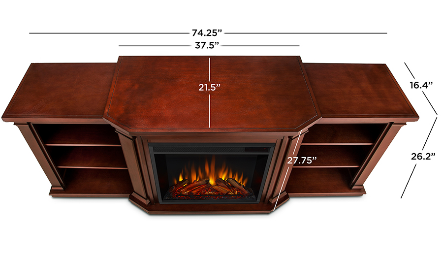 Dark Mahogany Electric Fireplace Dimensions