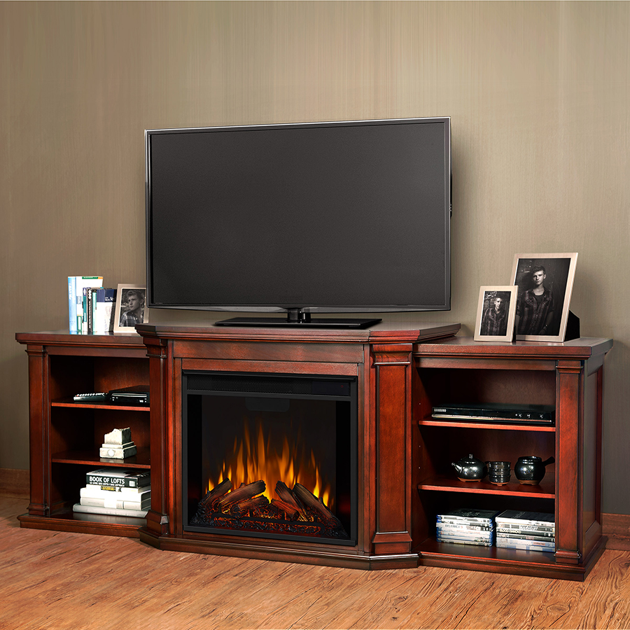 Dark Mahogany Electric Fireplace