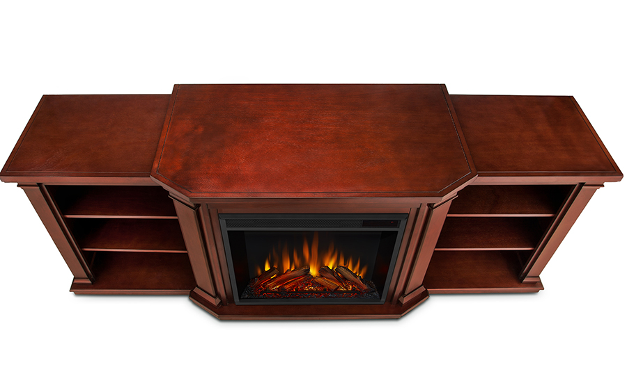Dark Mahogany Electric Fireplace Top