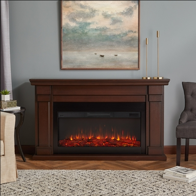 Chestnut Oak Electric Fireplace