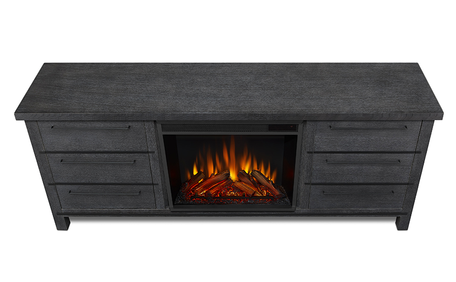 Antique Gray Electric Fireplace Top