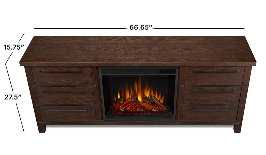 Chestnut Oak Electric Fireplace Dimensions