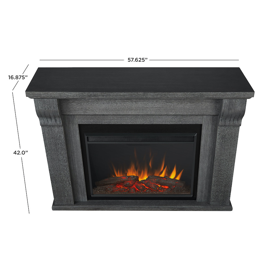 Antique Gray Electric Fireplace Dimensions