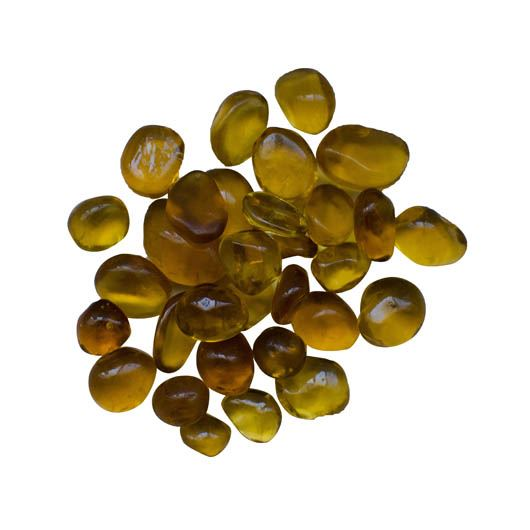 Amber Small Beads Fireglass