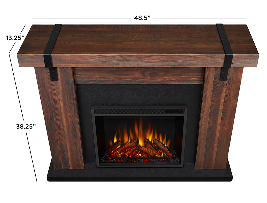 Chestnut Barnwood Electric Fireplace Dimensions