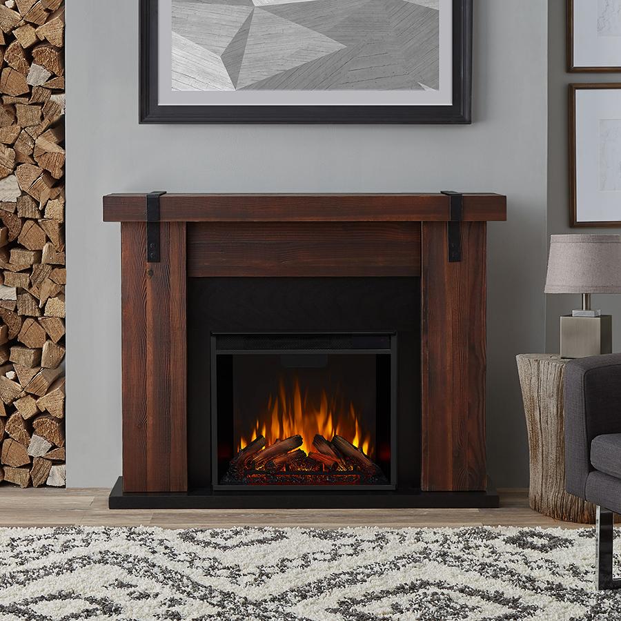 Chestnut Barnwood Electric Fireplace