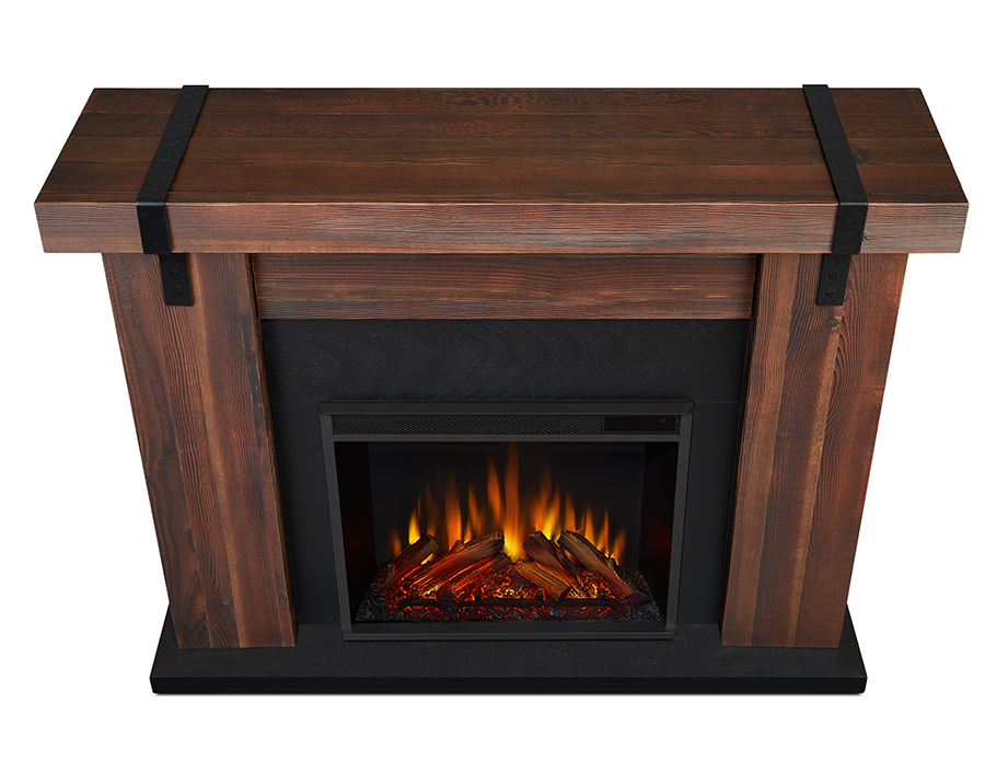Chestnut Barnwood Electric Fireplace Top