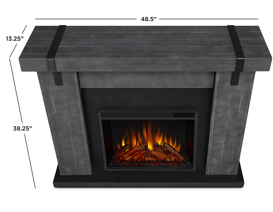 Gray Barnwood Electric Fireplace Dimensions