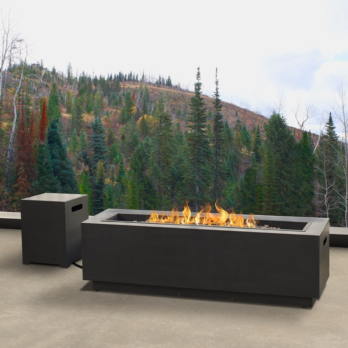 Rectangle Propane Fire Table