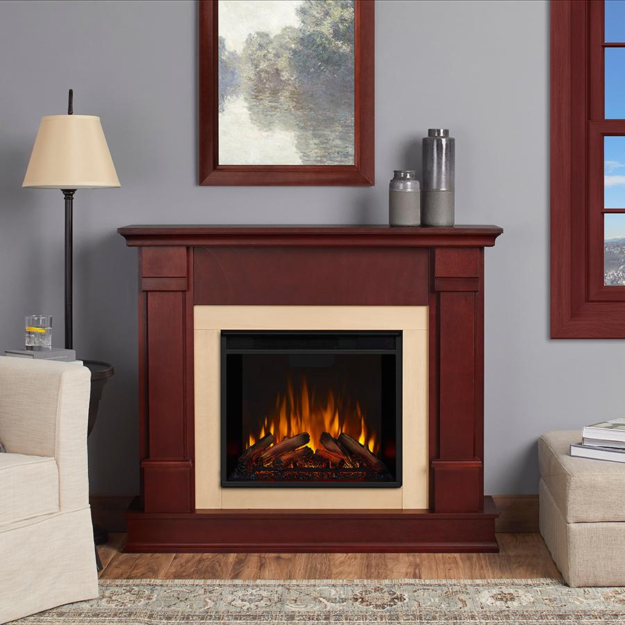 Dark Mahogany Electric Fireplace