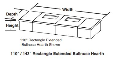 Rect. Extended Bullnose