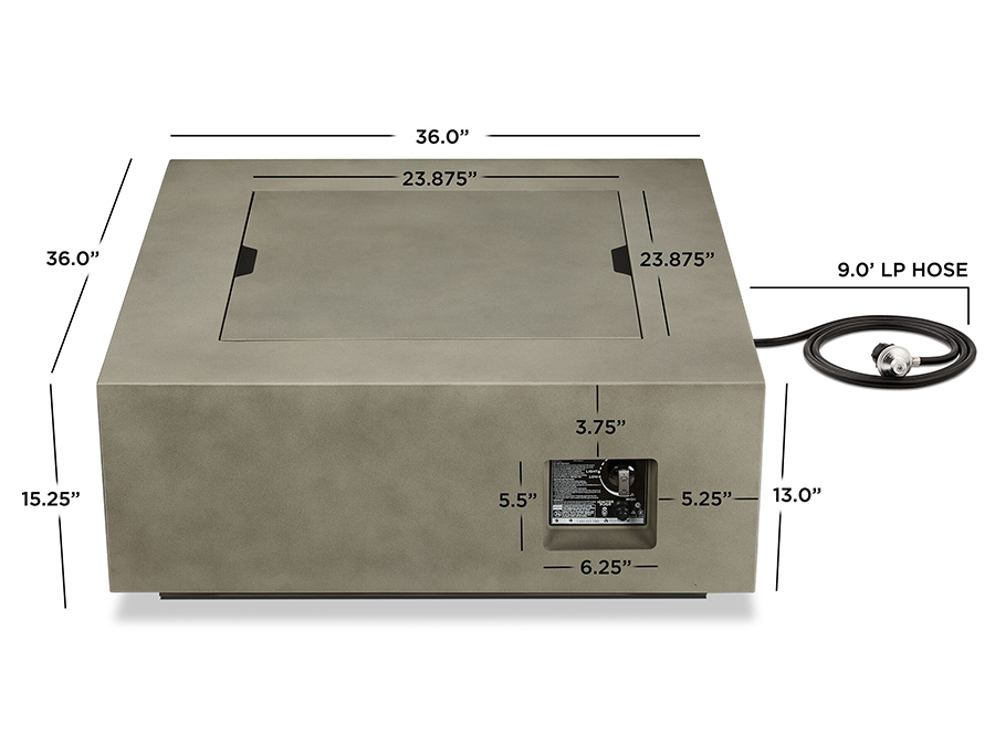 Outdoor Fire Table Dimensions