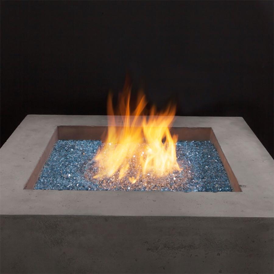 Blue Reflective Fire Glass Demonstration
