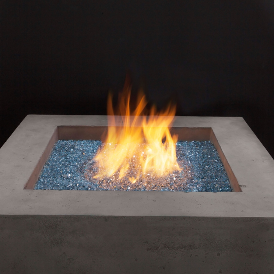 Blue Reflective Fire Glass Demonstration