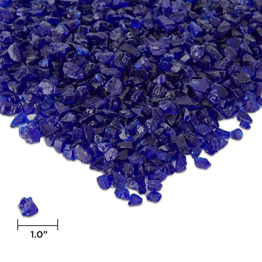 Cobalt Blue Reflective Fire Glass