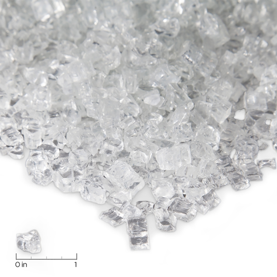 Ice Chips Clear Fire Glass
